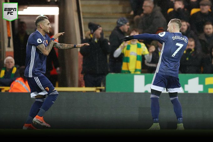 En un duelo por la zona del descenso, el Watford le ganó 2-0 al Norwich en el arranque de la fecha 12 por la Premier League (Video) EI4kEOLXkAcwo_D?format=jpg&name=small