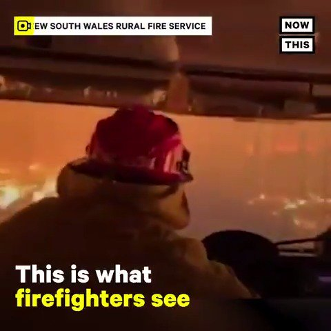 'We've never seen this many fires concurrently at emergency alert level.' — This POV footage shows what firefighters see as they fight Australia's historic wildfires