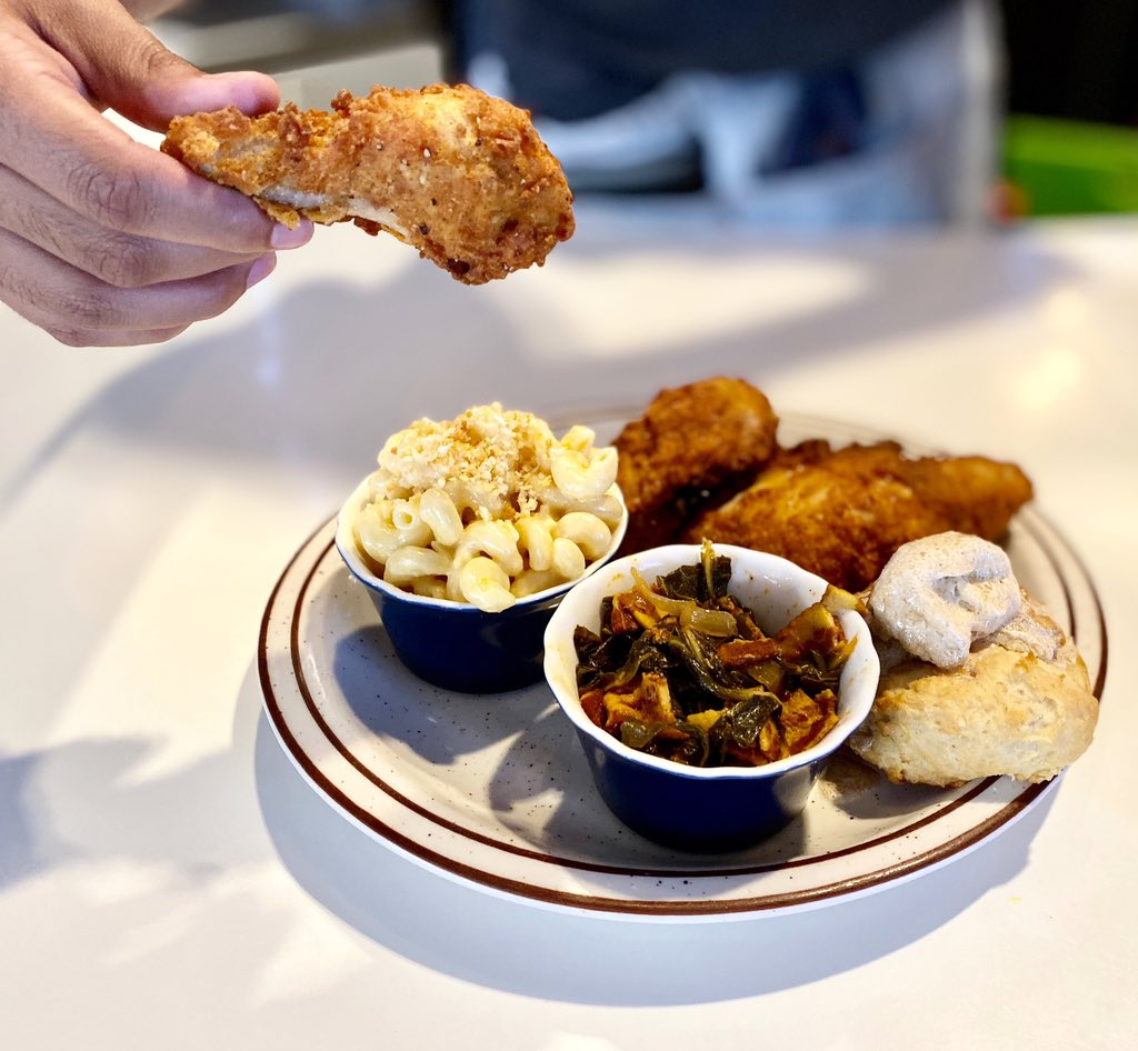 Fried chicken tonight! 3 or 8 piece meals with choice of sides, dine in or carry out from 5 to 9.