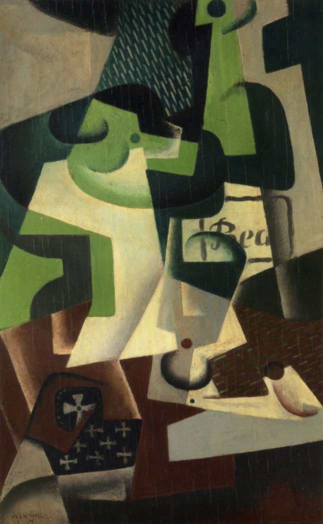 Bottle of Beaune and a Fruit Dish, 1917 #spanishart #juangris <br>http://pic.twitter.com/r2SCWrzFHD