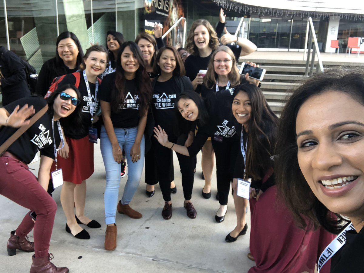Happy #NationalSTEMDay Here are some #STEMselfies with my fellow #thisiswhatascientistlookslike @ifthenshecan @aaas ambassadors having a blast talking science and being ourselves. As a microbiome researcher, happiness for me is a box of poop! <br>http://pic.twitter.com/ulwJuE558Y