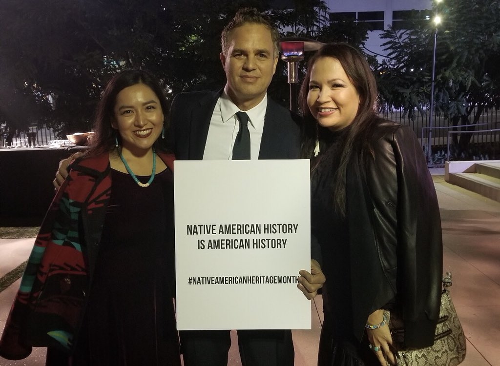 Congratulations @markruffalo on your SAG Artist Inspiration Award for your work with The Solutions Project, and for using the stage to highlight #NativeAmericanHeritageMonth .<br>http://pic.twitter.com/xHiRLCCu7G