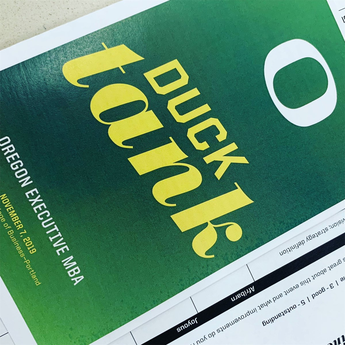 This year's Duck Tank was another success, thanks to the work of our wonderful alumni board. Many thanks to the four competing teams, the judges panel, and the evening's awesome emcee @jordanrkent. PICS: https://uobiz.co/duck-tank-2019-pix…