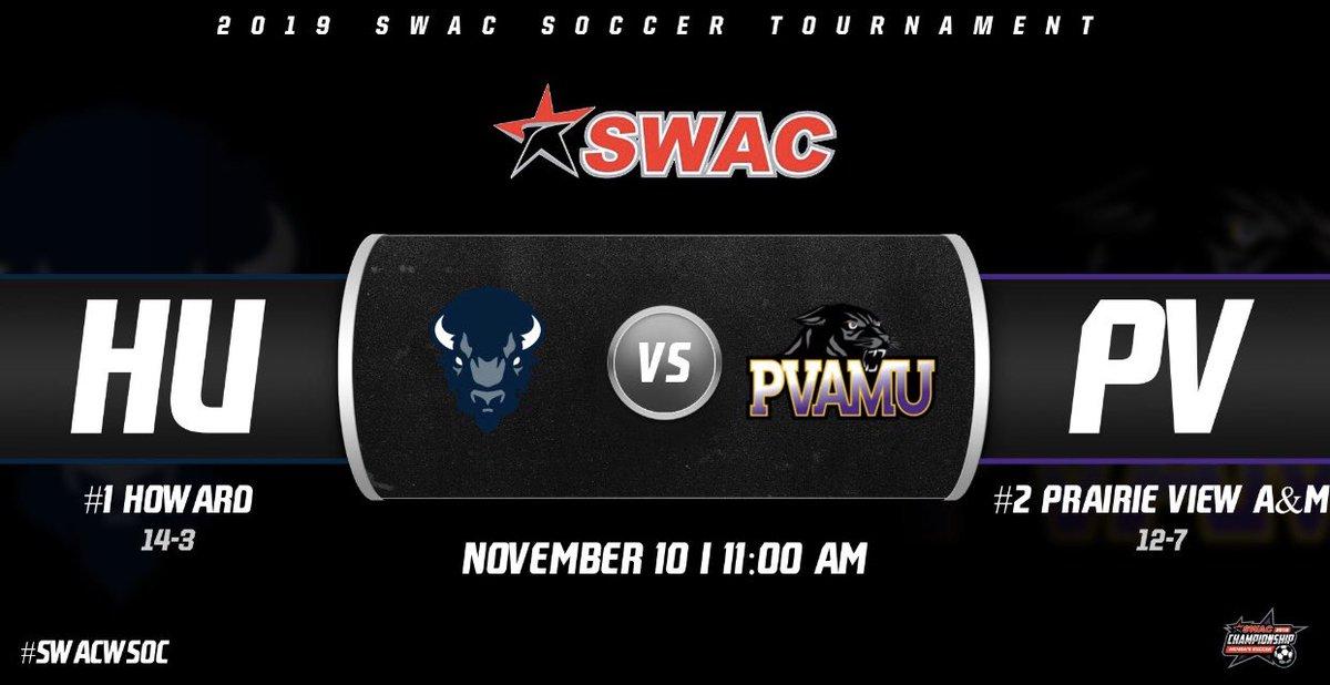 #SWACWSOC  Tournament Final: @HUBisonSports  vs. @PVAMUPanthers