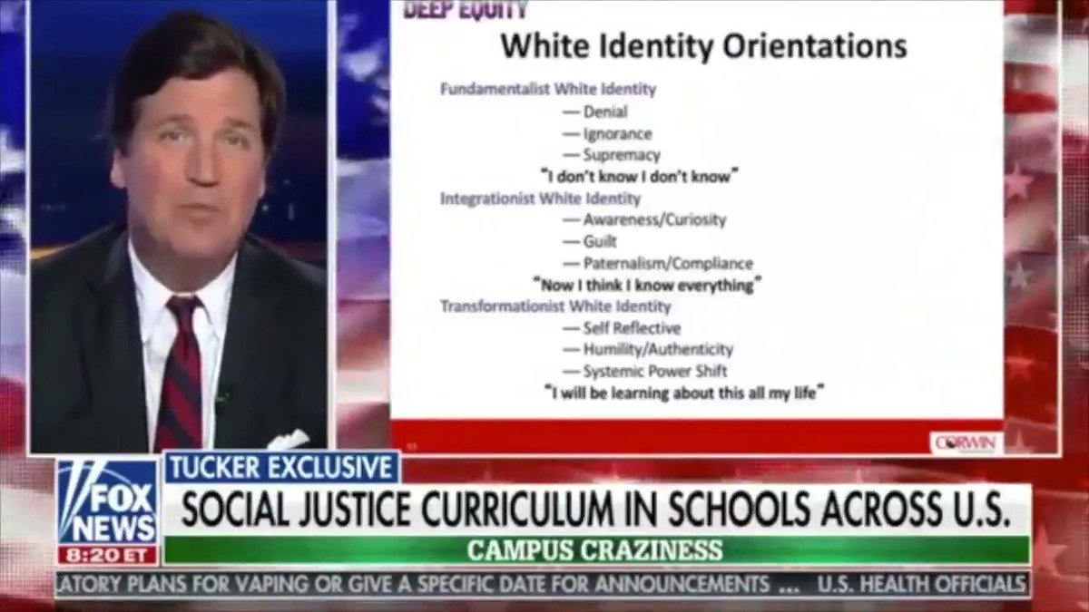 Tucker Carlson on New Anti-White Curriculum Being Taught in Schools Across the United States