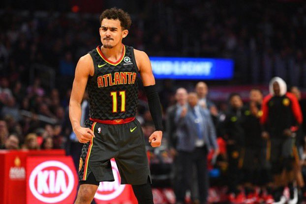 Trae Young is the ninth player to have 30+ points, 10+ assists and 5+ steals in a game, over the last 10 years.  Derrick Rose Rajon Rondo Andre Iguodala John Wall Victor Oladipo Chris Paul Russell Westbrook James Harden TRAE YOUNG