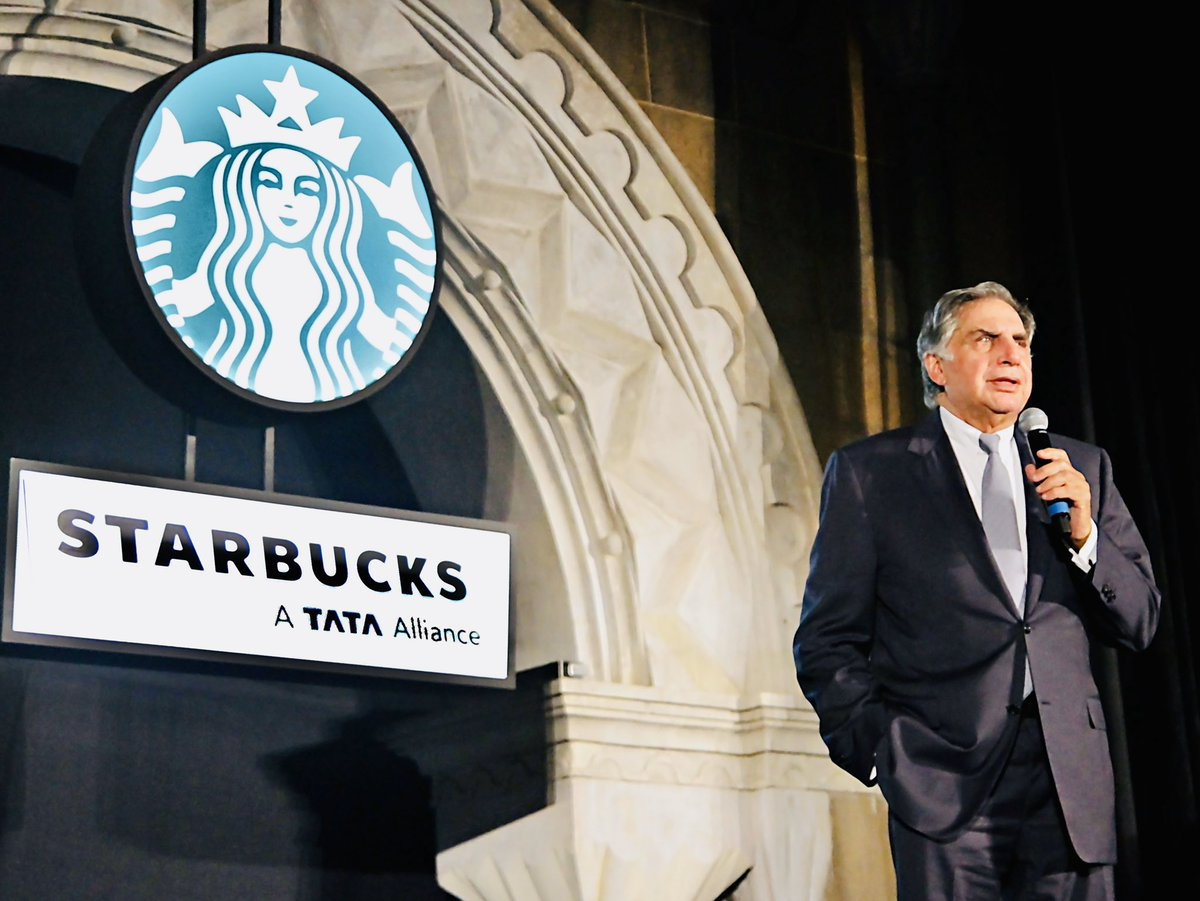 The crowd of people on launch day showed that it wasn't just about the coffee, but also about relationships. Wishing @StarbucksIndia a Venti-hearted 7 year anniversary month since the inception of Tata-Starbucks with the vision of of Mr. R. K Krishnakumar and Mr. Howard Schultz. https://t.co/ycMBPDTdFW