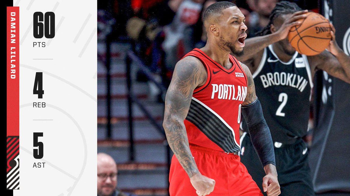 A career-high 60 for Dame 😳