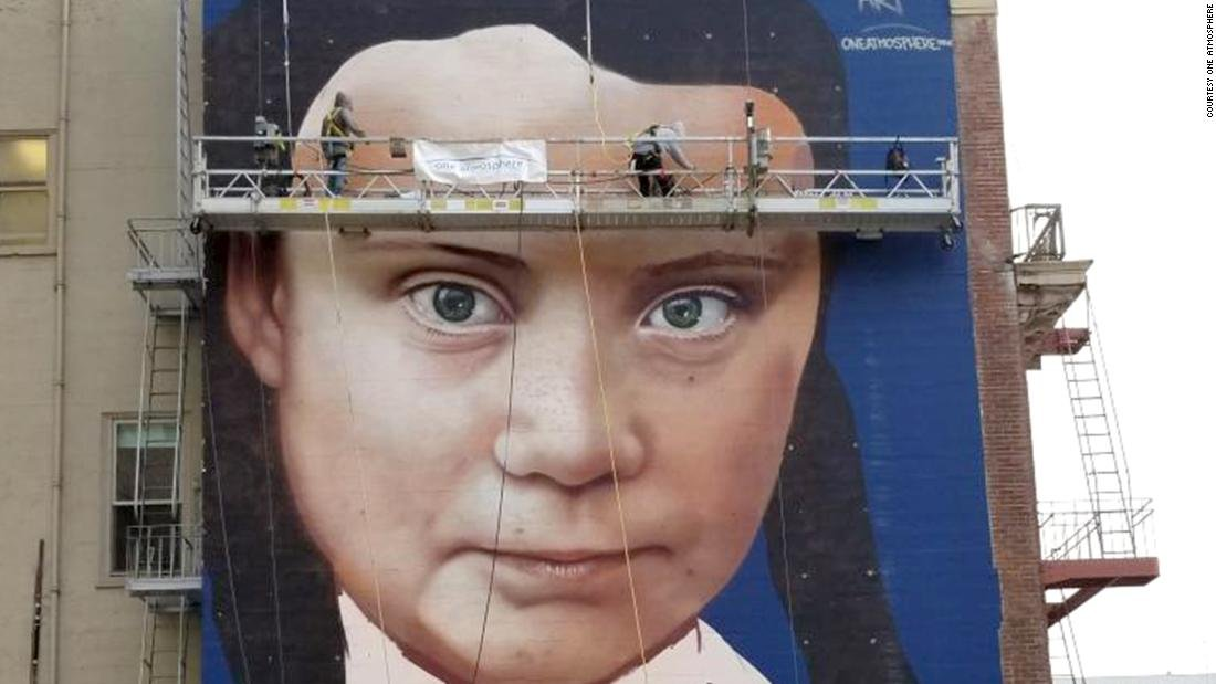 Teen climate activist Greta Thunberg is getting a huge mural in downtown San Francisco https://cnn.it/34H42mG