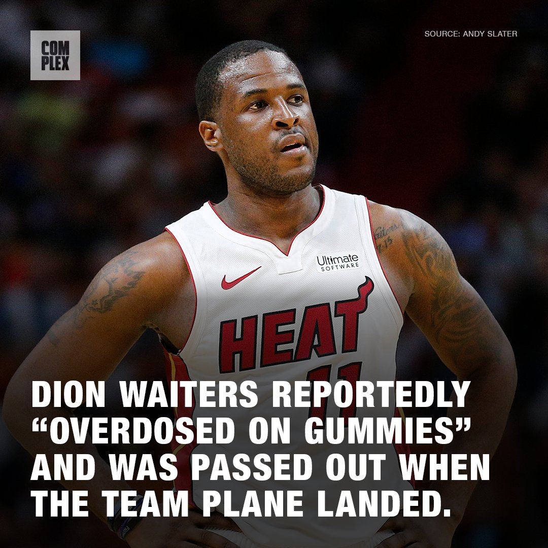 Dion Waiters reportedly 'overdosed on gummies' and was passed out when the team plane landed. Waiters reportedly had a seizure when he woke up.  Story: http://cmplx.co/MRIvf4E
