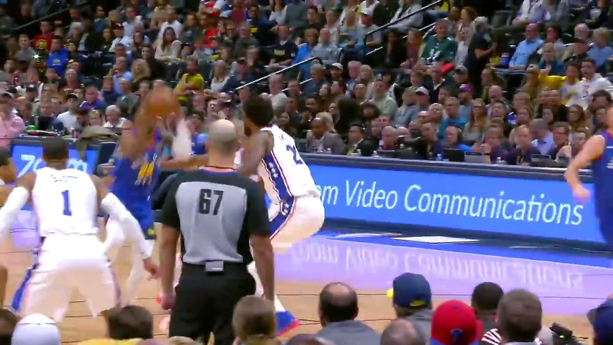 Mason Plumlee's effort on offense, with two screens and an alley oop dunk earns your Heads Up Play of the Day! https://t.co/ZzRYw8myjY