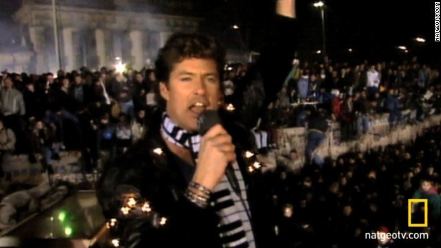 On this day 1989: The Berlin Wall falls as thousands of Germans unify in a desperate attempt to escape the singing of David Hasselhoff.