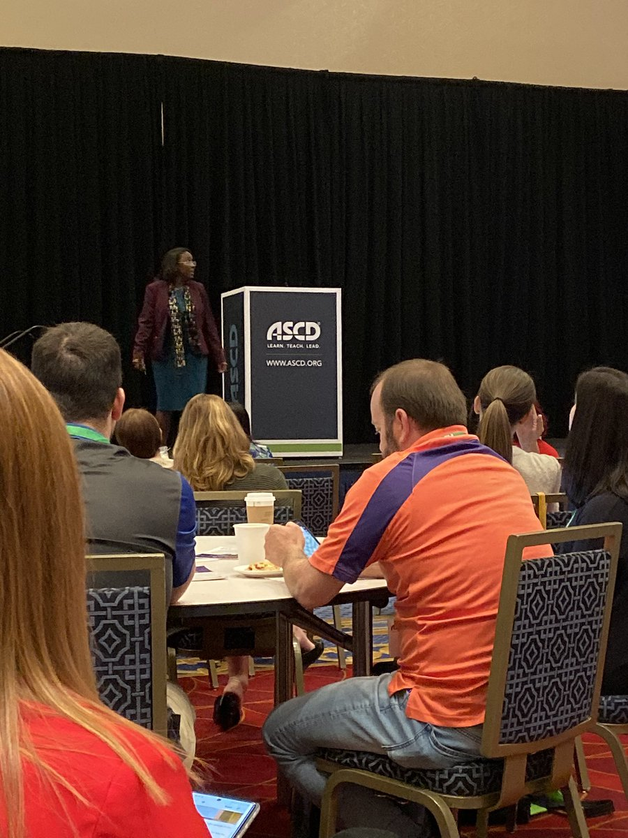 "Dr. Tiffany Anderson is inspirational! ""We as educators are ambassadors of hope."" #ASCDCEL"