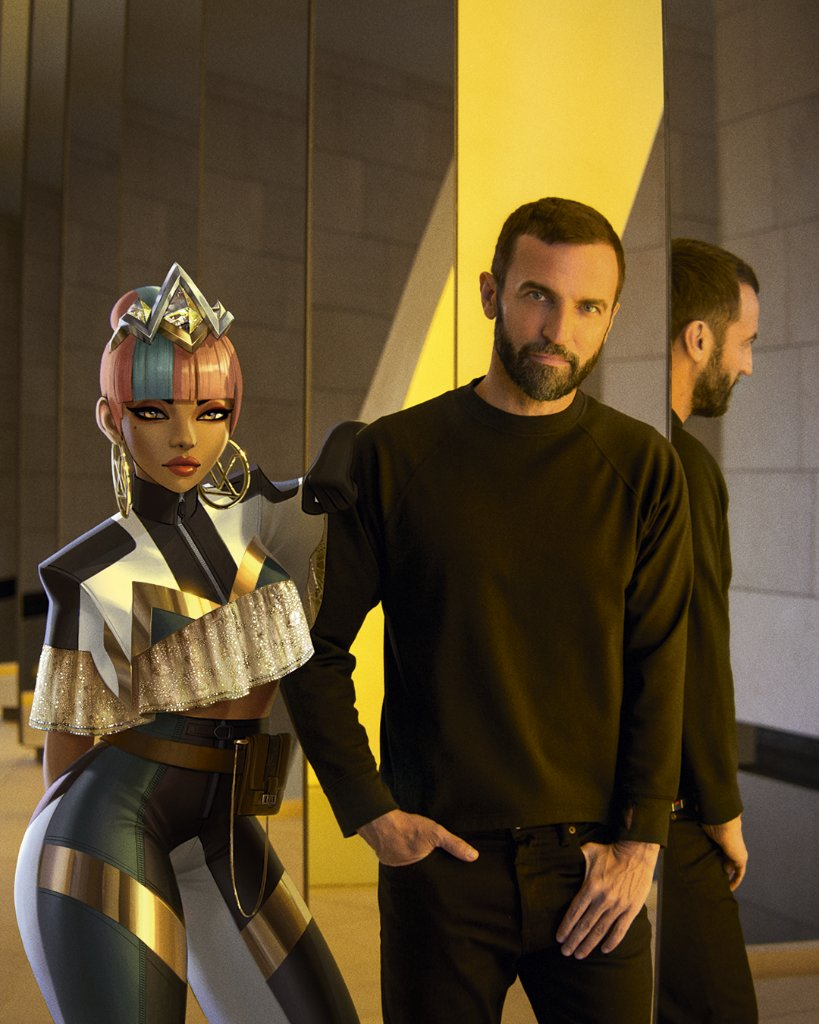 #LVxLoL @TWNGhesquiere with Qiyana. #LouisVuitton's Women's Artistic Director designed a prestige skin for the @LeagueOfLegends champion as part of the Maison's collaboration with @RiotGames and @lolesports. Learn about #LVxLoL at on.louisvuitton.com/60171zhnB