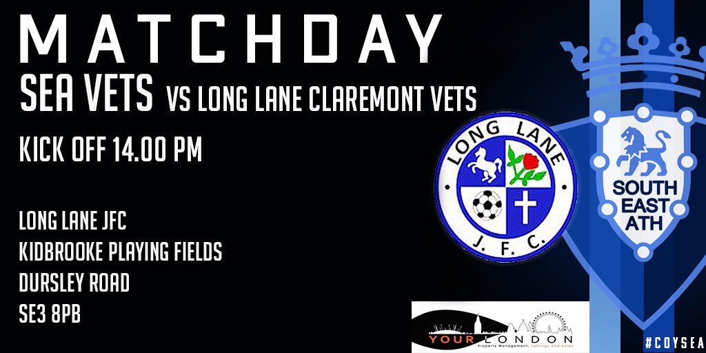 SEA's in-form team - the Vets are playing in today's 'Kidbrooke Playing Fields Derby' vs  @longlanejfc  #ElClasico