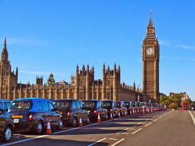 The black cabs of London waiting on Westminster Bridge to ferry the veterans from Waterloo station to the Cenotaph and back again......for free. They do this every year, but it never seems to be mentioned in the press. Good on you cabbies.