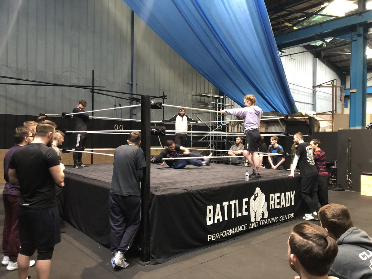 We are underway with the @IslaDawn seminar here at @battlereadyncl #learning #teach #wrestling #wwe #nxt #nxtuk #tTheHunt