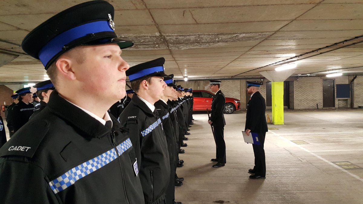 The @MerseyPolice Cadets feeling Proud and looking Smart, as they are inspected by Ch. Supt. Matt Boyle. All a credit to the Police Family.