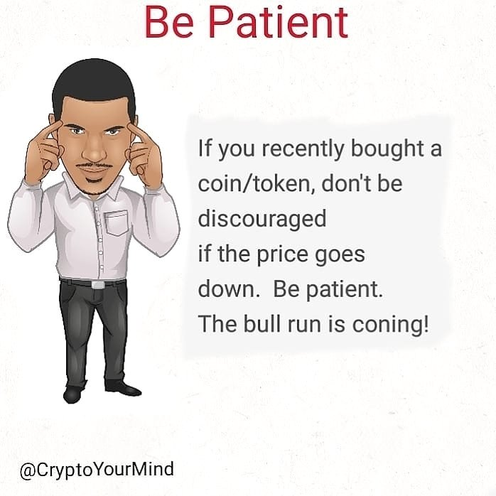 You'll regret it later if you don't be patient with your crypto investments. Don't have weak hands. Especially in a bull market.  #cryptocurrency #bitcoin #blockchain #crypto #decentralized #cryptoshirt #cryptoyourmind #wealth #blackcrypto #financialfreedom #altcoins #cryptonews