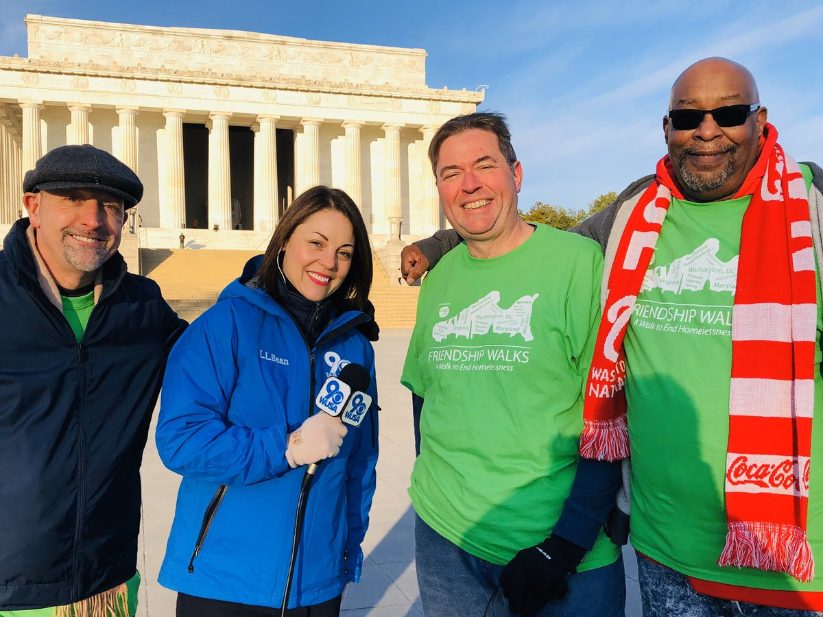 This chilly morning it's DC's annual Walk to End Homelessness. These folks with Friendship Place work year round to help thousands of our homeless neighbors find housing and stability. The walk starts at eleven and funds raised help support their programs. @wusa9  #getupdc