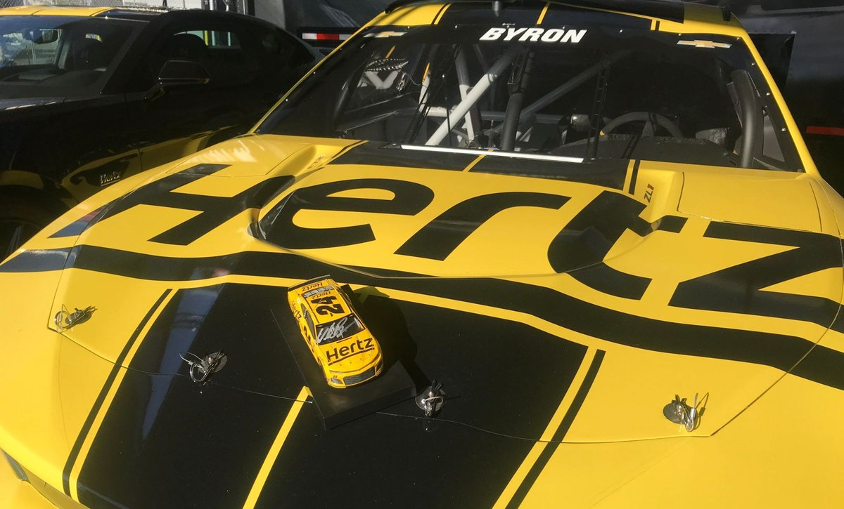 🚨 RACE WEEKEND GIVEAWAY 🚨  RT & follow us for a chance to win a @WilliamByron signed diecast. We're excited that the #Hertz24 Chevy is back on the track! @Hendrick24Team @TeamHendrick   18+; NoPurchNec; VoidWhereProhib; Ends 11/10 11:59 PM ET;Rules: