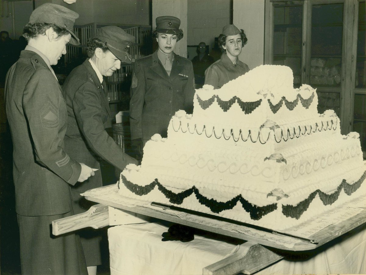 Cool Marine Corps History Division On Twitter The Cutting And Eating Funny Birthday Cards Online Elaedamsfinfo