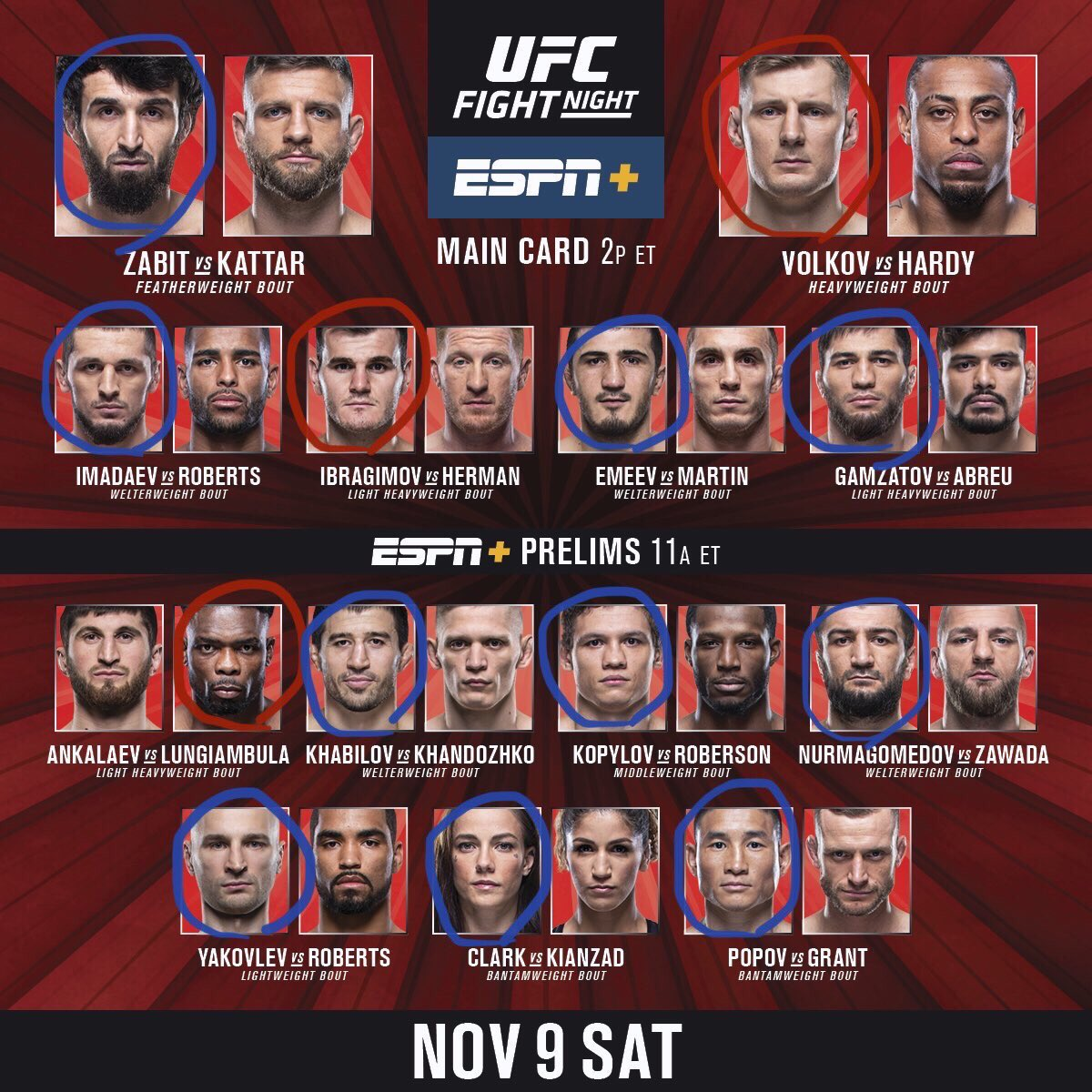 #UFCMoscow Picks
