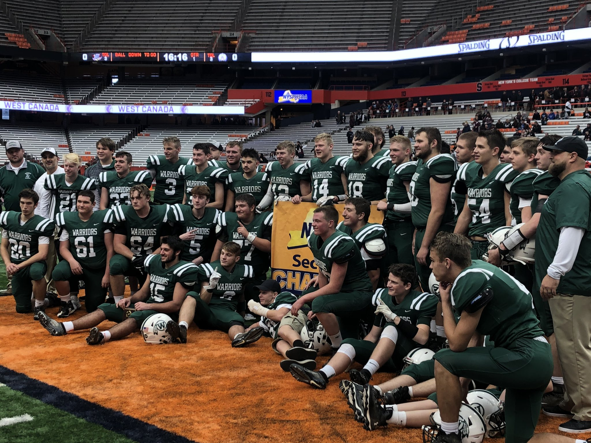 Weedsport wins second consecutive Section III 8-man championship