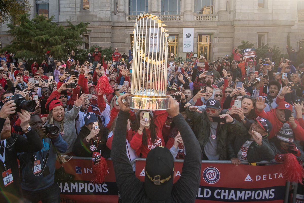 Hey, @Delta... Can you fly us back to last weekend so we can relive the #WorldSeries parade?!?! Thanks in advance, AtNationals #CHAMPS // #FIGHTFINISHED