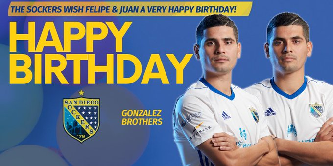 The Sockers Wish Felipe & Juan Gonzalez A Very Happy Birthday!