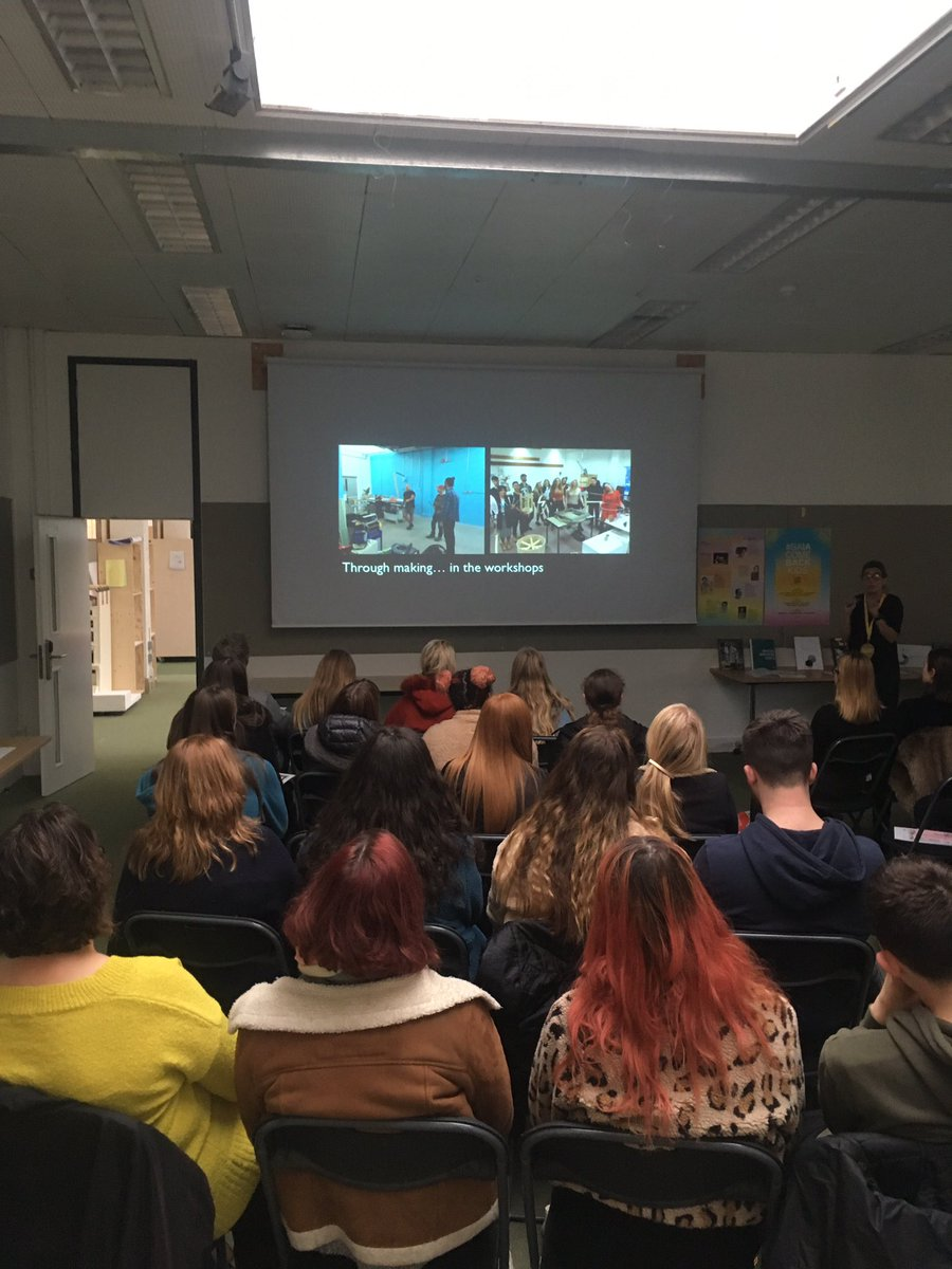 A wonderful OPEN DAY today. How blinkin' lovely to meet so many bright young potential @IntArchBTN students! @SoadBrighton #interiorarchitecture