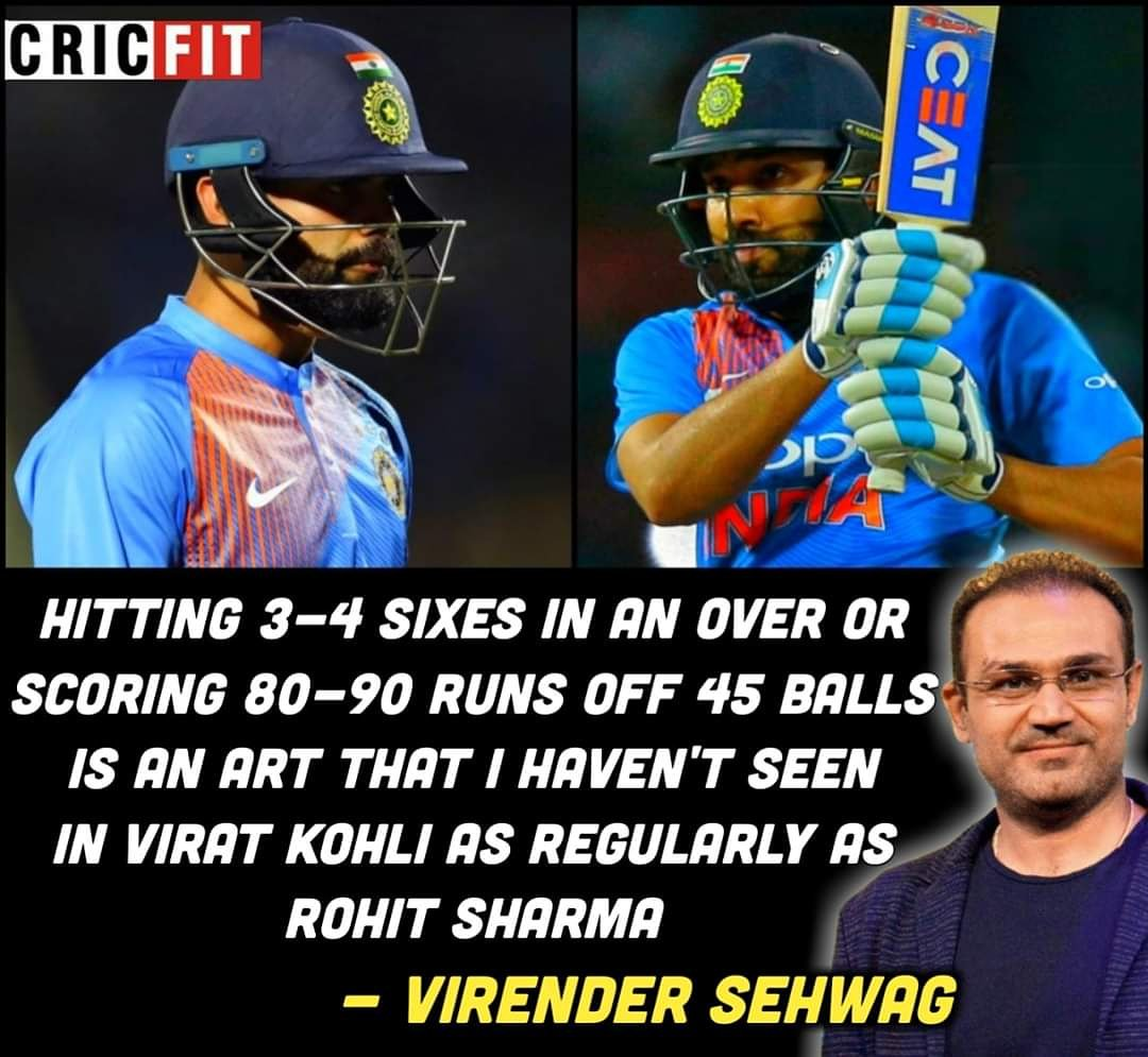 What do you have to say #ViratKohli fans ? Do you agree with #VirenderSehwag ?? #Hitman #RohitSharma