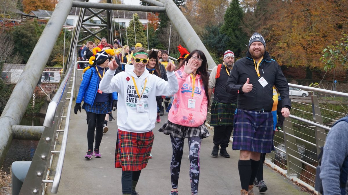 A great day out doing @thekiltwalk in #Dumfries in aid of @soft_uk Well done to everyone involved #kiltwalk