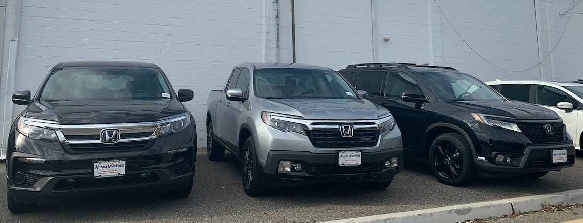 Which Honda would you select for your next weekend adventure?   #HondaUniverse #HondaPilot #HondaRidgeline #HondaPassport