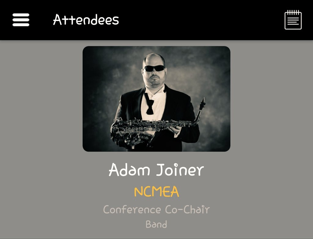 """We have the """"coolest"""" @ncmea Conference Co-Chair.  If you see this guy , give him a high five for his hard work.  #musicfun #workhardplayhard @NAfMEpic.twitter.com/Vbxwnexq6x"""