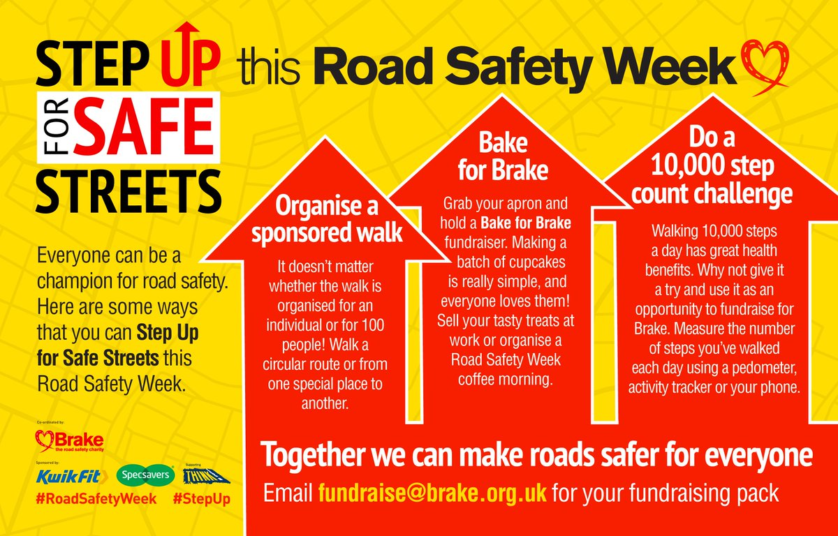 Get involved with Road Safety Week and step up to make a difference!