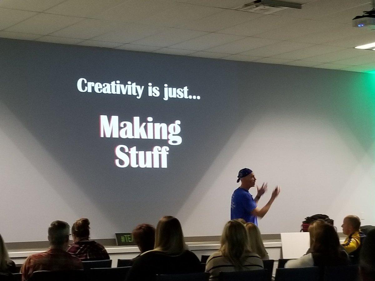 Let's make some 'stuffs'! 🎨👩🎨👨🎨 #tlap @burgessdave #TeachBetter19