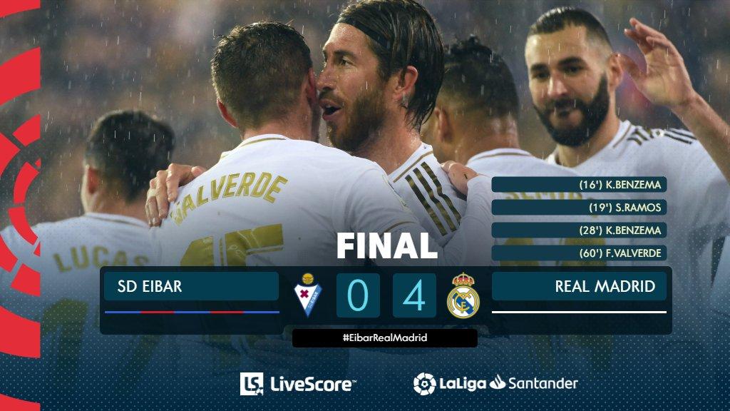 Liga : le Real Madrid déroule à Eibar