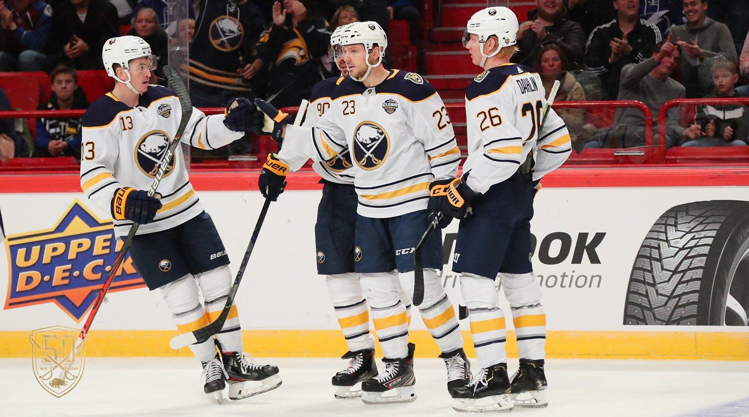 Sabres get swept by Lightning in Sweden