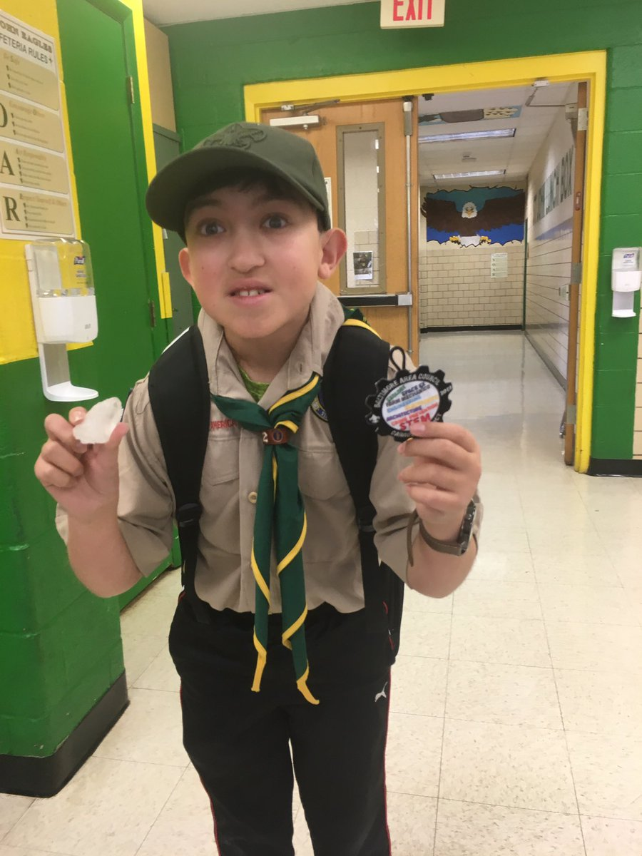 In celebration of #NationalSTEMday, my son earned his Geology merit badge today for Boy Scouts!! It was fun preparing him for it.  It brought me back to my days of teaching 8th grade science! Did you do anything fun for STEM day? <br>http://pic.twitter.com/t6Pd5fQxG1