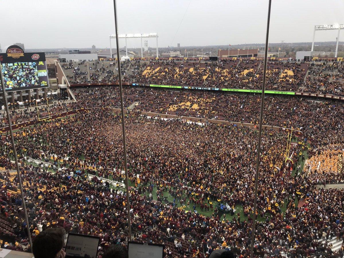 Photo Of Minnesota's Stadium After Upset Win Is Incredible