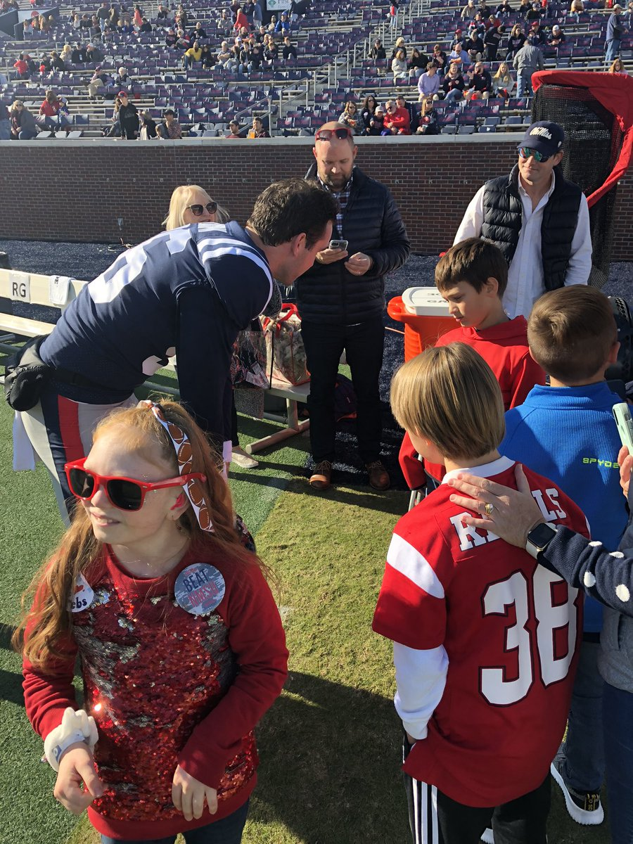 Always excited to have our friends from @childrensofms visit us for an @OleMissFB game .