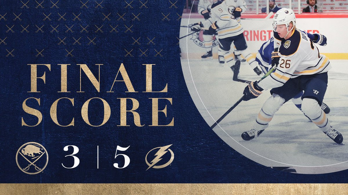 Tampa Bay wins tonights game in Sweden.