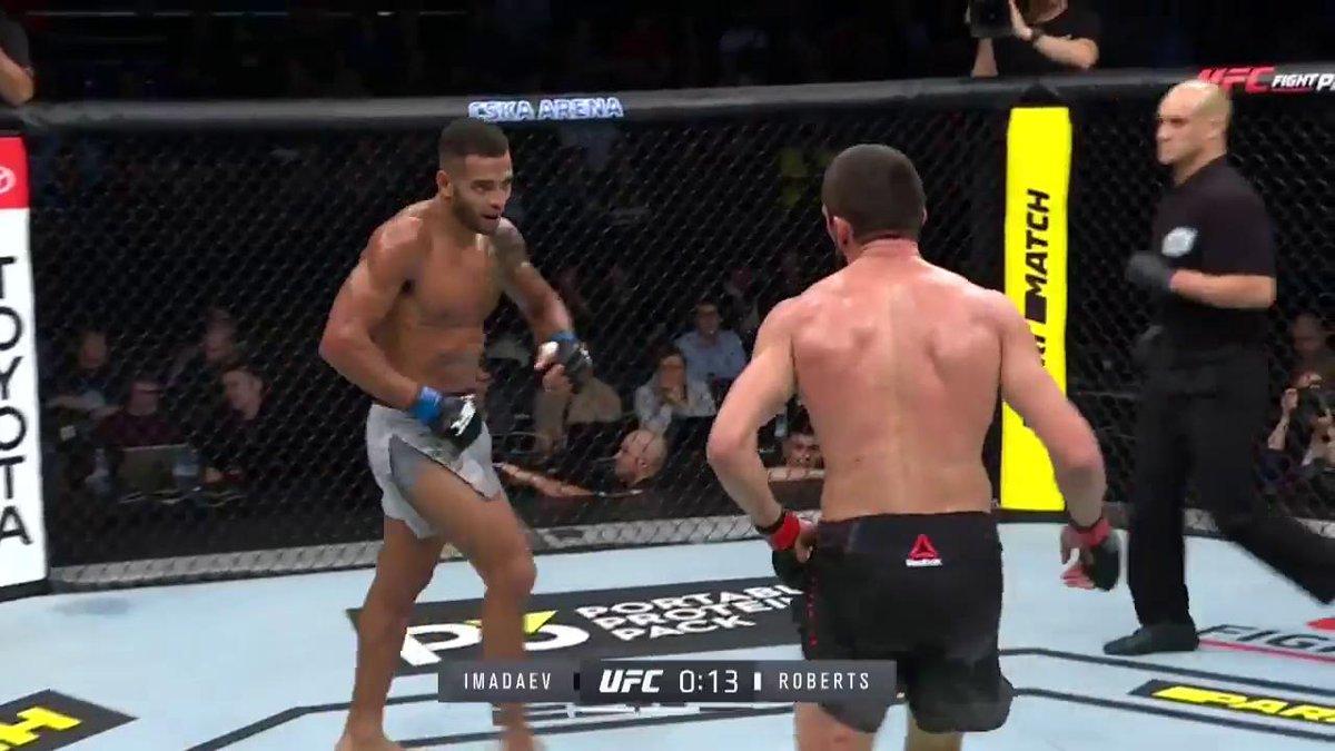 """HE SPUN HIM 3️⃣6️⃣0️⃣!""  @DanHotChocolate says good night! #UFCMoscow  ➡️ Watch more now on ESPN+ ⬅️"