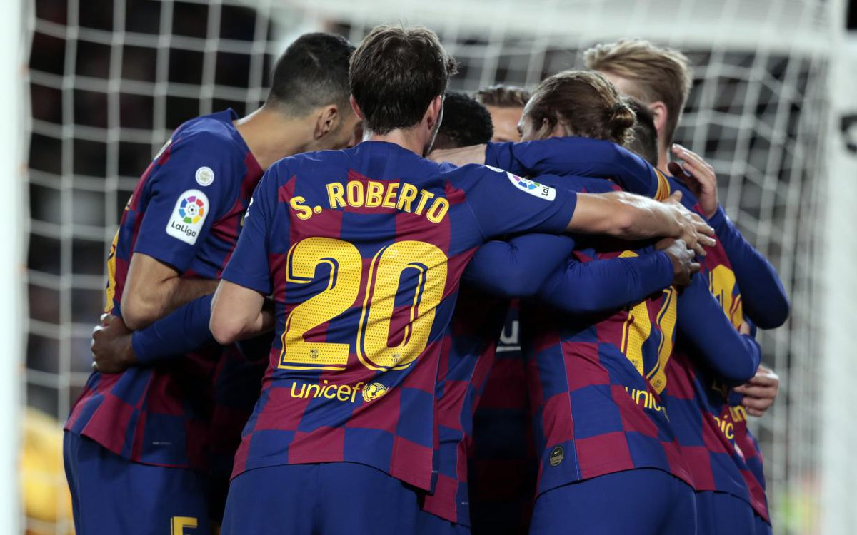 🏟 Attendance: 7️⃣1️⃣,2️⃣0️⃣9️⃣ at Camp Nou tonight! Thanks for coming out to support the team! 👏🔵🔴 #ForçaBarça #BarçaCelta