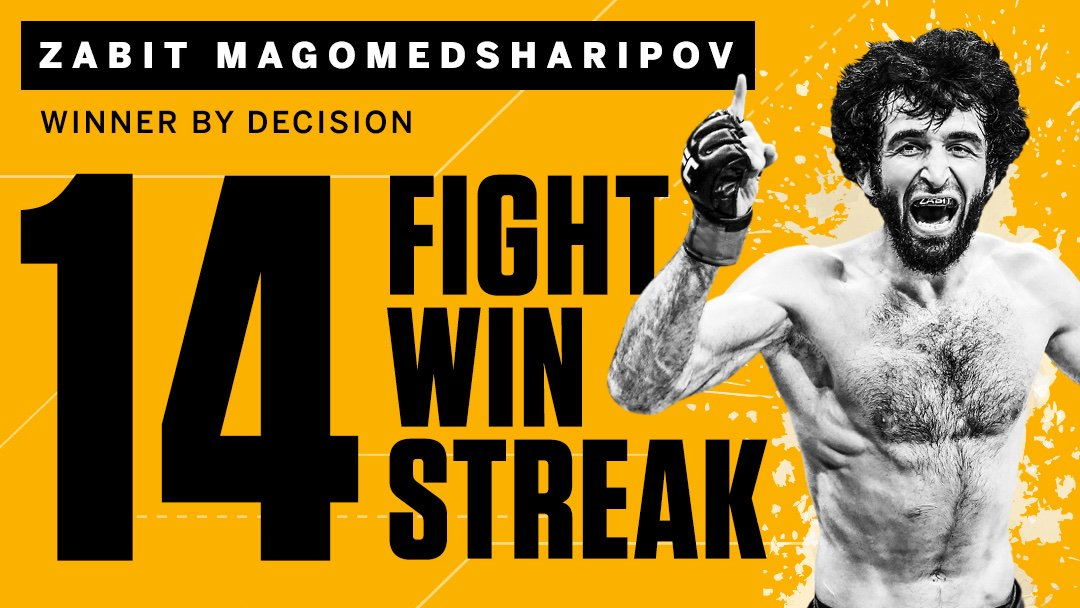 No slowing down for Zabeast #UFCMoscow