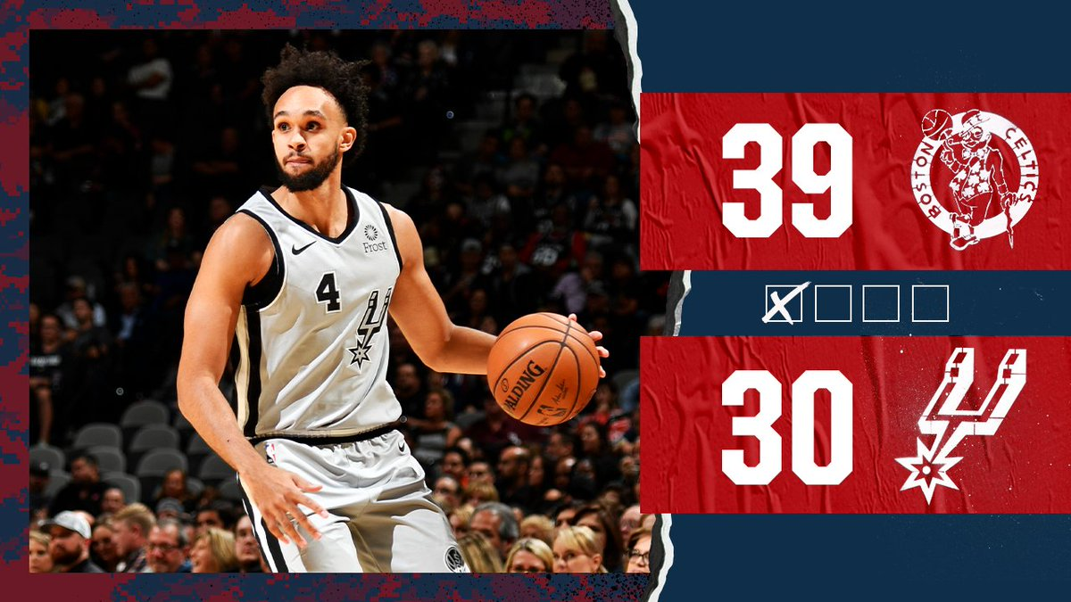 First 12 minutes in the books. #GoSpursGo