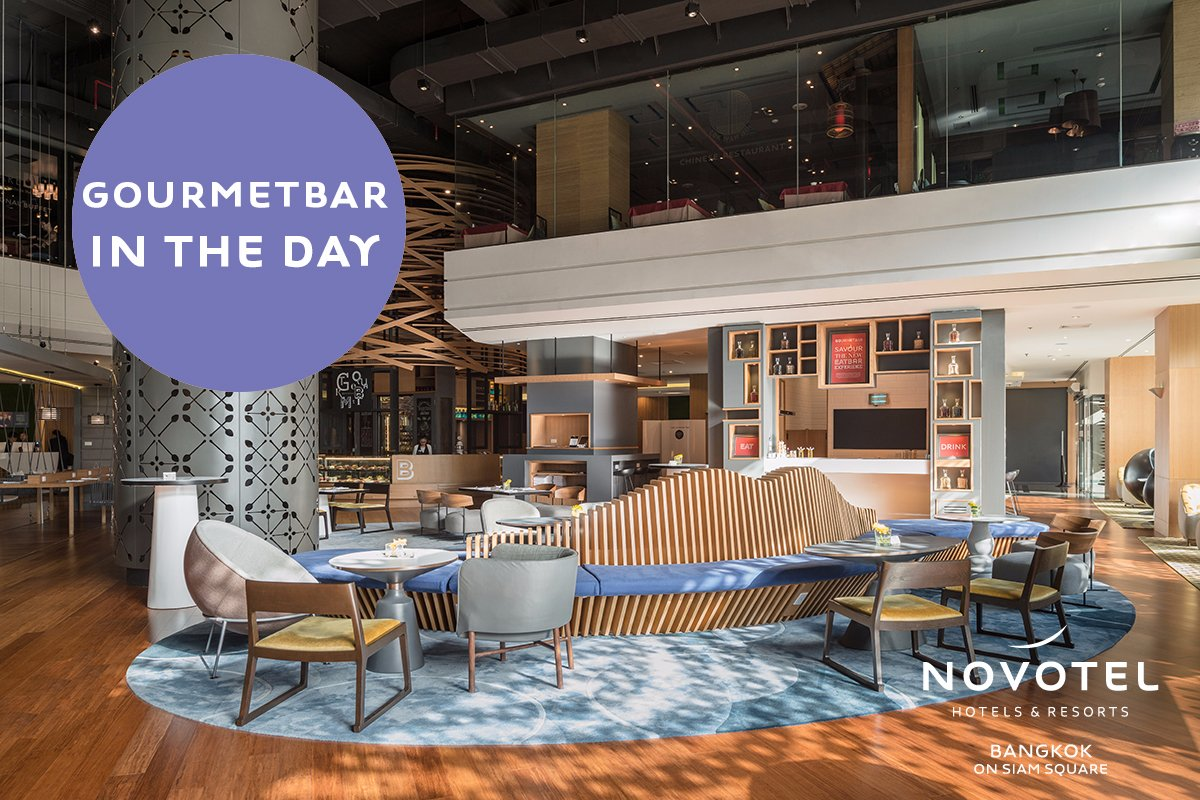 You are always welcome at Gourmet Bar! The best place to relax and hangout with your friends, enjoy good food and good vibes everyday!  https://t.co/64UMUHDzmI #Novotelsiam #Novotelbkk https://t.co/g0dPnw6sMh