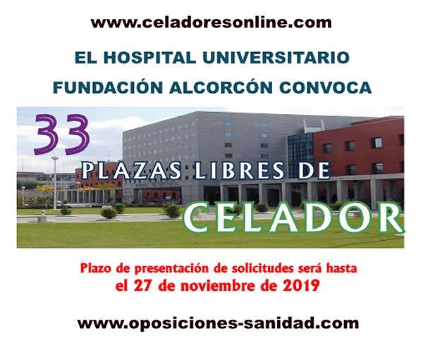 Convocadas 33 plazas de Celadores del Hospital Universitario Fundación Alcorcón... plazo de presentación de instancias hasta el 27-Noviembre-2019 EIAMwt9X4AAYtZN?format=jpg&name=small