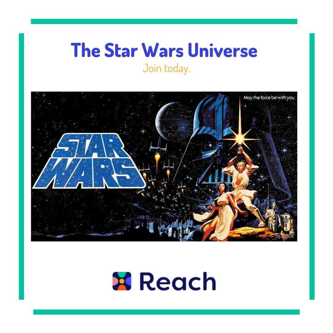 The Force is strong with this app Join the #StarWarsUniverse on Reach #Reach #IBF #ReachYourIBFs #IBFgoals #InternetBestFriends #StarWarspic.twitter.com/CluqkSNVQ8